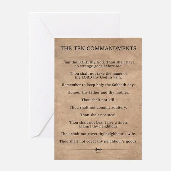 The Ten Commandments Greeting Card