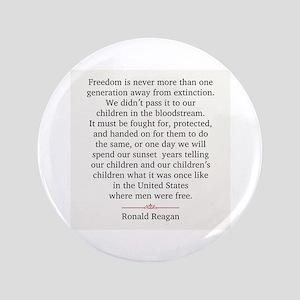 """Ronald Reagan 3.5"""" Button"""
