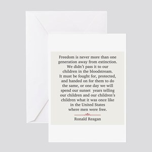 Ronald Reagan Greeting Card