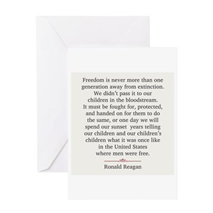 Ronald reagan greeting cards cafepress bookmarktalkfo Choice Image