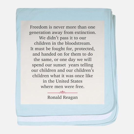 Ronald Reagan baby blanket