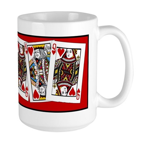 King And Queen Of Hearts Large Mug