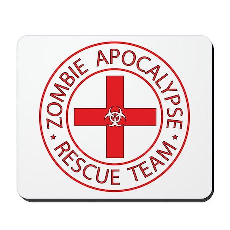 Red ZA Rescue Team Mousepad