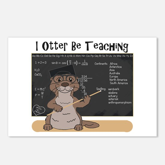 Cute Sea otter Postcards (Package of 8)
