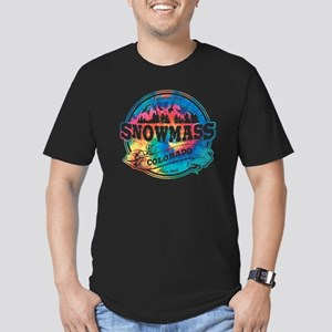 Snowmass Old Circle Men's Fitted T-Shirt (dark)
