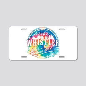 Whistler Old Circle Aluminum License Plate