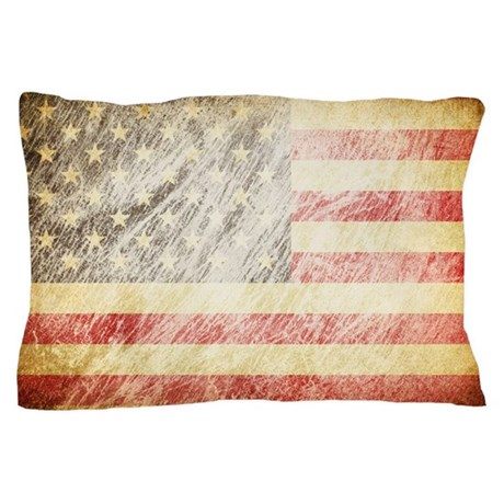 Grunge Flag Pillow Case