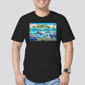 Dolphin Reef Men's Fitted T-Shirt (dark)