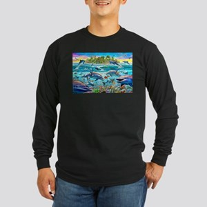 Dolphin Reef Long Sleeve Dark T-Shirt