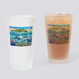 Dolphin Reef Drinking Glass