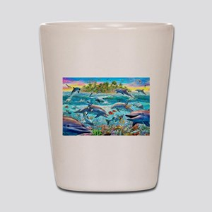 Dolphin Reef Shot Glass