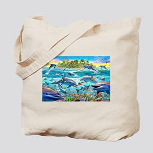 Dolphin Reef Tote Bag