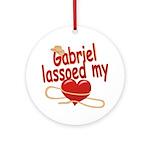 Gabriel Lassoed My Heart Ornament (Round)