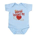 Gabriel Lassoed My Heart Infant Bodysuit