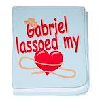 Gabriel Lassoed My Heart baby blanket