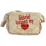 Gabriel Lassoed My Heart Messenger Bag