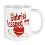 Gabriel Lassoed My Heart Mug