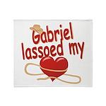 Gabriel Lassoed My Heart Throw Blanket