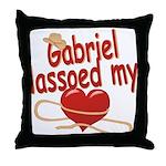 Gabriel Lassoed My Heart Throw Pillow