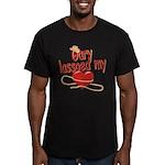 Gary Lassoed My Heart Men's Fitted T-Shirt (dark)