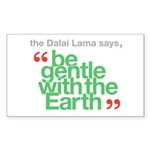 Be Gentle With The Earth Sticker (Rectangle)
