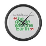 Be Gentle With The Earth Large Wall Clock