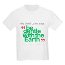 Be Gentle With The Earth Kids Light T-Shirt