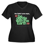 Be Gentle With The Earth Women's Plus Size V-Neck