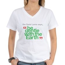 Be Gentle With The Earth Women's V-Neck T-Shirt