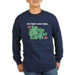 Be Gentle With The Earth Long Sleeve Dark T-Shirt