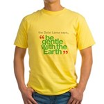 Be Gentle With The Earth Yellow T-Shirt