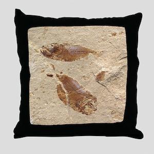 Fish Fossil Throw Pillow