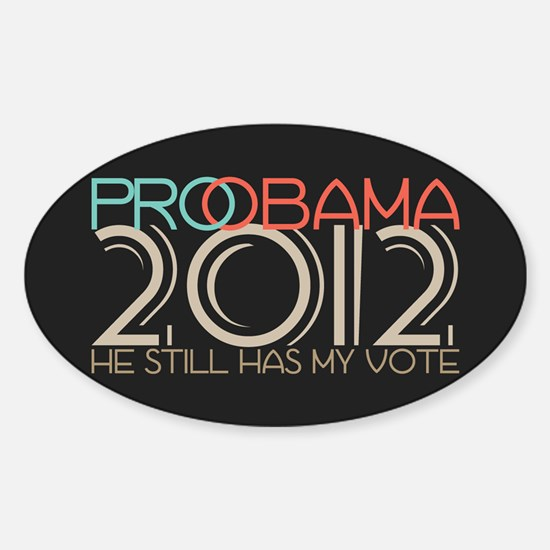 Probama 2012 Sticker (Oval)