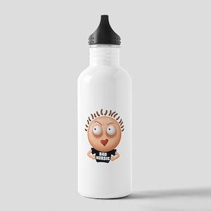 Bad Nursie - Brown Hair Stainless Water Bottle 1.0
