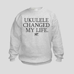 Ukulele Changed My Life Kids Sweatshirt