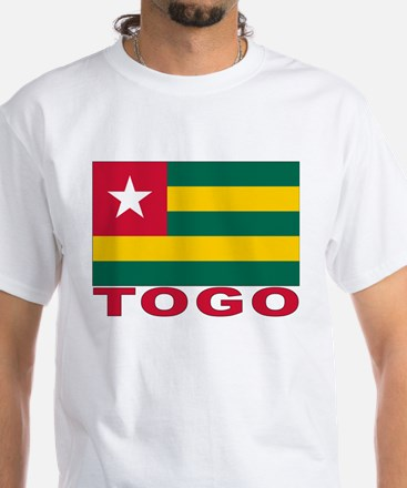 Togo Flag White T-Shirt