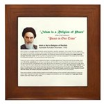 Ayatollah on Islam Framed Tile