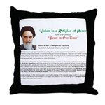 Ayatollah on Islam Throw Pillow