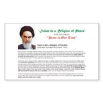 Ayatollah on Islam Rectangle Sticker
