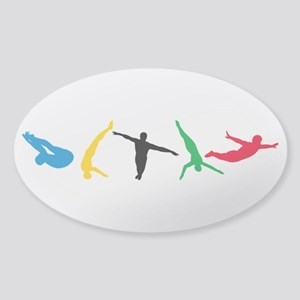 Diving Divers Sticker (Oval)