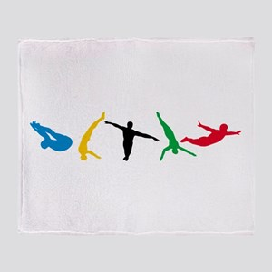 Diving Divers Throw Blanket