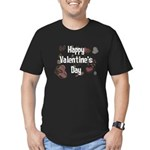 Happy Valentine's Day Retro Men's Fitted T-Shirt (