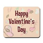 Happy Valentine's Day Retro Mousepad