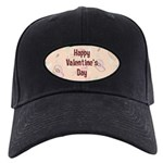 Happy Valentine's Day Retro Black Cap