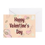 Happy Valentine's Day Retro Greeting Cards (Pk of