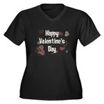 Happy Valentine's Day Retro Women's Plus Size V-Ne