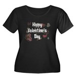 Happy Valentine's Day Retro Women's Plus Size Scoo