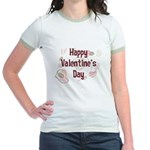 Happy Valentine's Day Retro Jr. Ringer T-Shirt