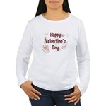 Happy Valentine's Day Retro Women's Long Sleeve T-