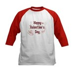 Happy Valentine's Day Retro Kids Baseball Jersey